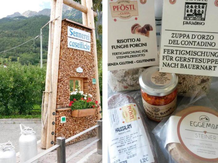 Südtiroler Produkte und die Sennerei Algund