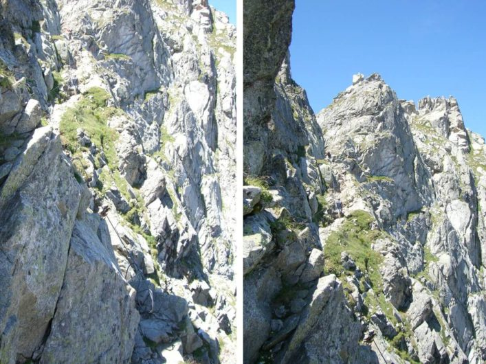 der Weg auf den Gipfel des Großen Ifingers auf Meran 2000