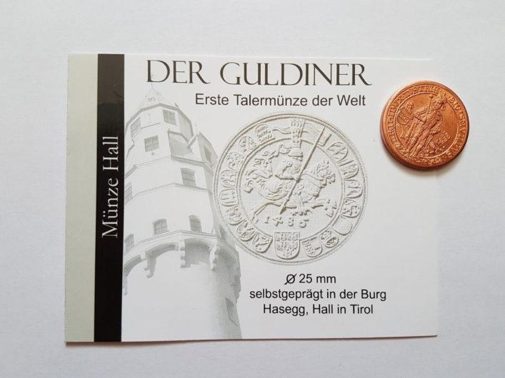 selbstgeprägte Kupfermünze von der Münze Hall