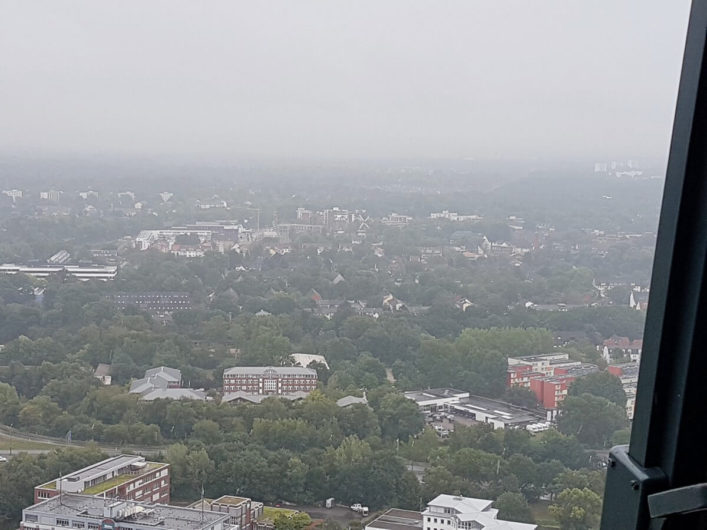 Ausblick über Bremen vom Fallturm