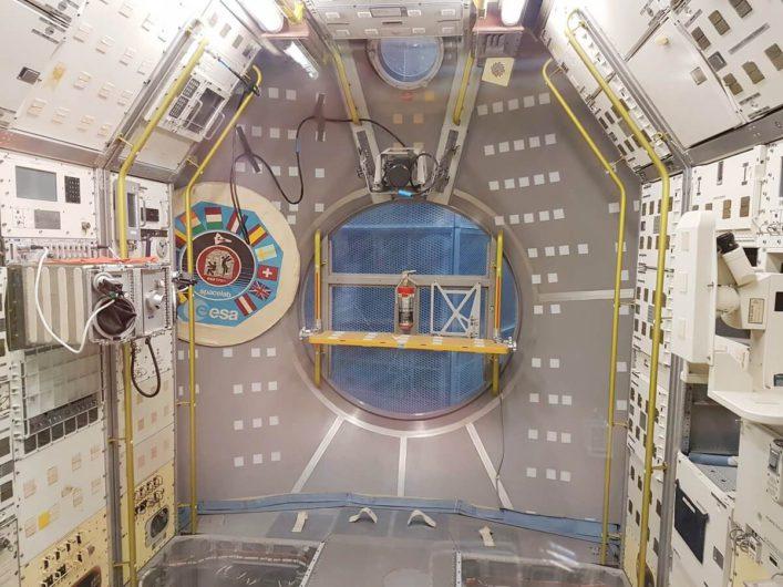 Blick ins Spacelab bei Airbus in Bremen