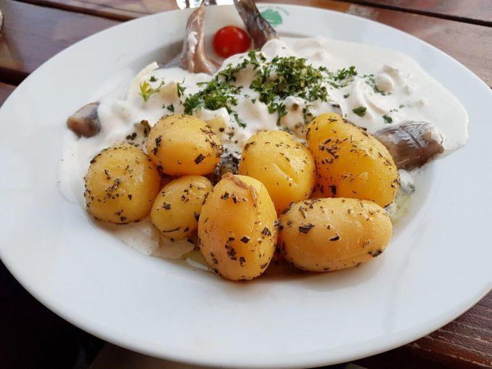 Matjes mit Kartoffeln und Hausmannssauce auf der Alexander von Humboldt in Bremen