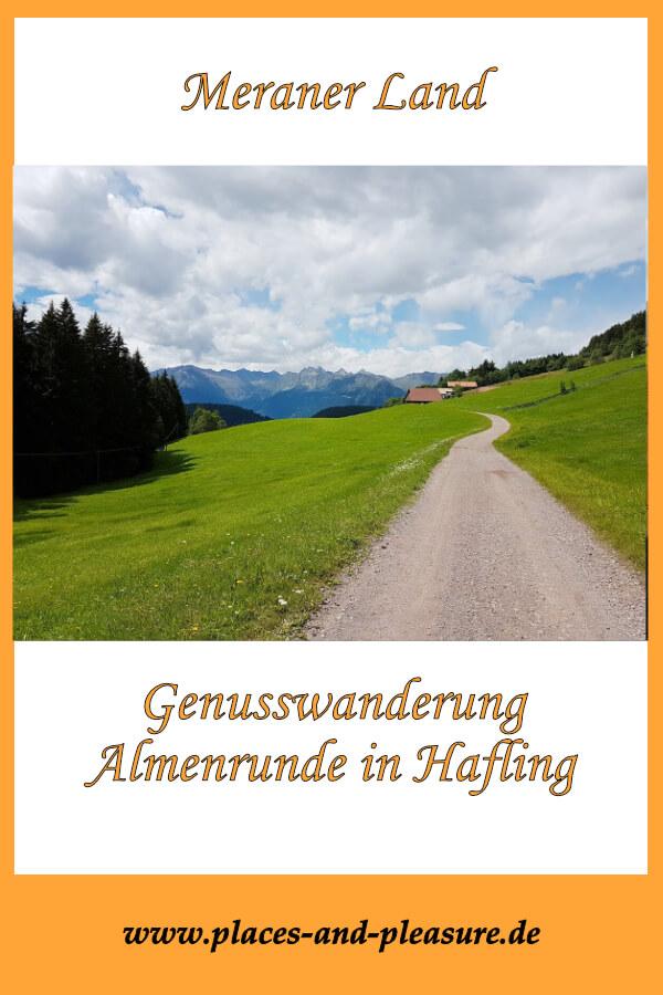 Wer eine ausgedehnte Rundwanderung sucht, für den ist die Almenrunde in Hafling das Richtige. Drei Almen sorgen für zünftige Verpflegung unterwegs. #MeranerLand #Wandern #Wandertipp #Südtirol