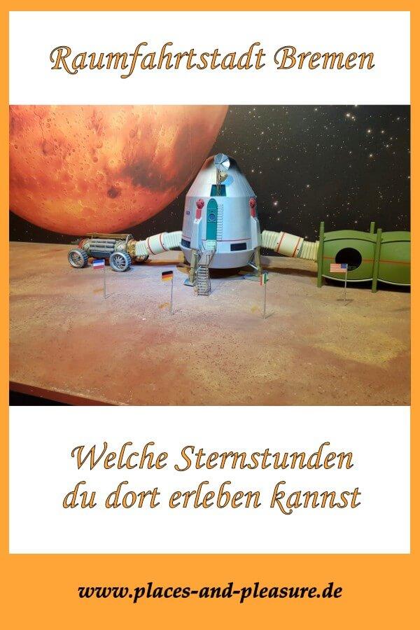 (Werbung – Bloggerreise) Raumfahrtstadt Bremen. Wenn du dich jetzt wunderst, lies in meinem Blog, was Bremen rund ums Weltall zu bieten hat. #Bremen #Städtereise #Raumfahrt