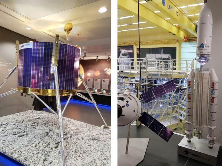 Blick in den Reinraum und Raumfahrttechnologie bei Airbus in Bremen