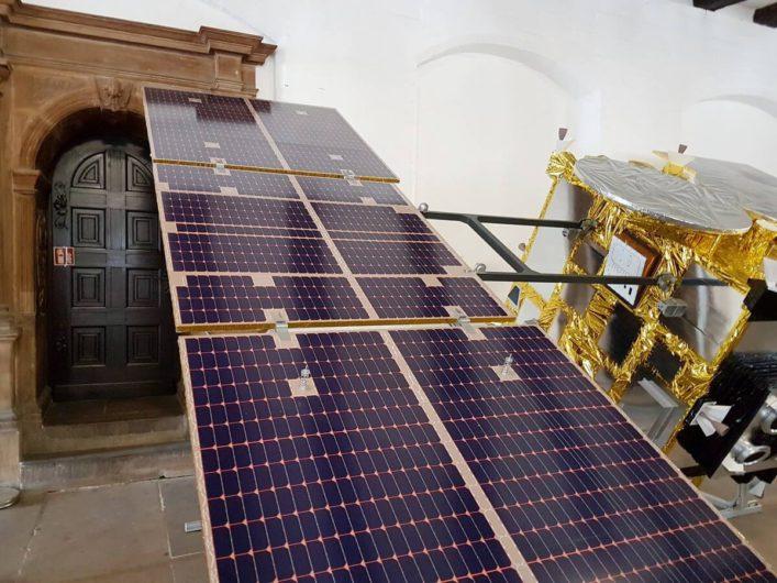 Paneel einer Raumfahrtmission
