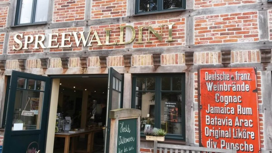 Das Gebäude der Spreewald Destillerie - früher Spreewaldini heute Spreewood Distillers