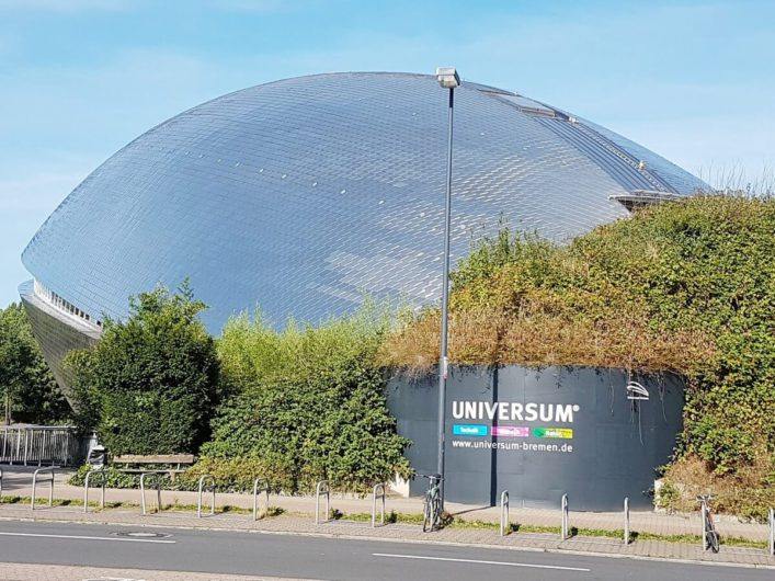 Blick auf das Science Center Universum Bremen