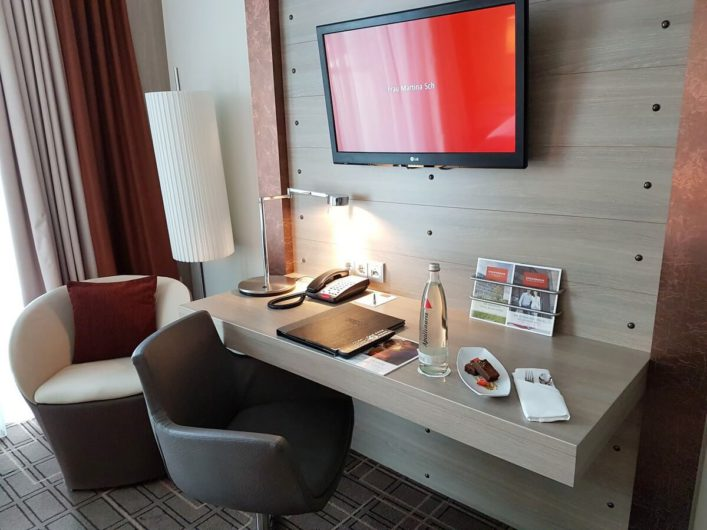 Schreibtisch im Steigenberger Hotel Bremen