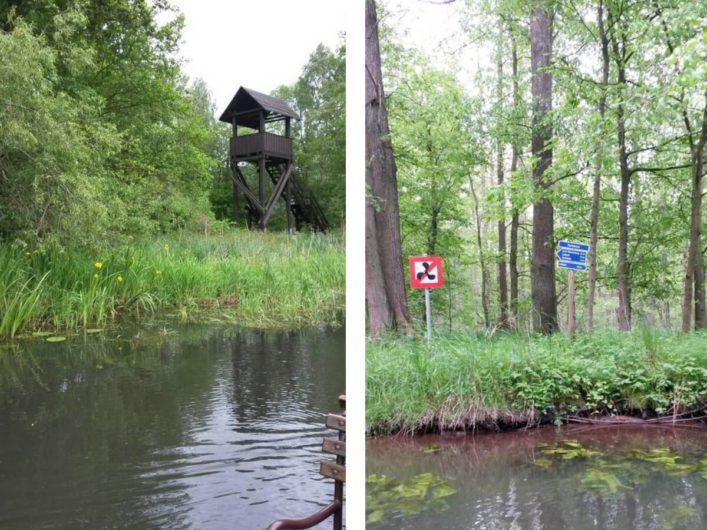 unterwegs über die Fließe im Spreewald