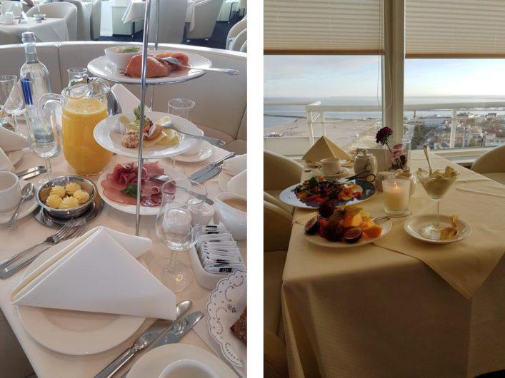 Himmlisches Frühstück in der Skybar des Hotel Neptun