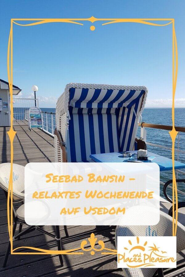 Eine entspannte Auszeit im Seebad Bansin auf Usedom genießen. Wie du einen relaxten Tag an der Ostsee gestalten kannst, erfährst du bei mir im Blog. #Bansin #Reisen #Ostsee #Usedom