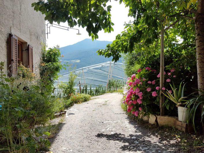 ein uriges Südtiroler Bauernhaus am Keschtnweg
