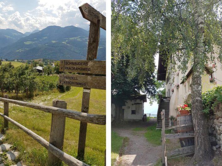 auf dem Keschtnweg von Feldthurns nach Klausen