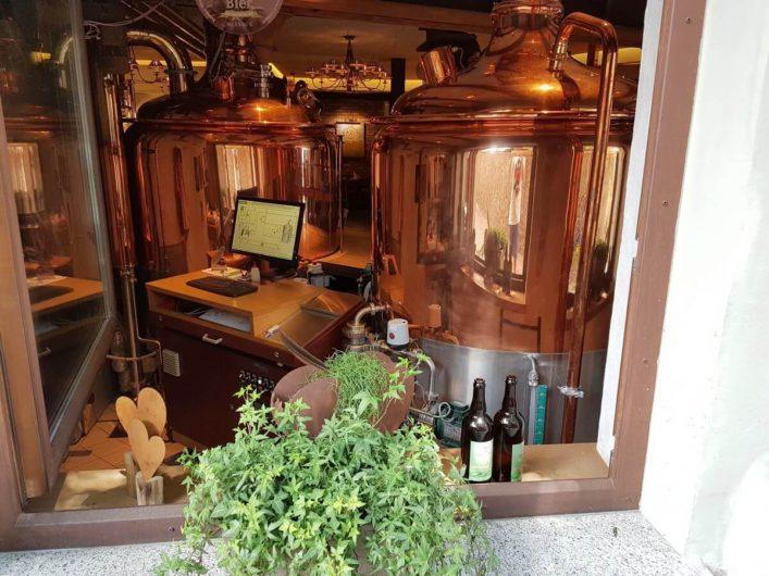 Blick in die Brauerei des Gassl Bräu in Klausen