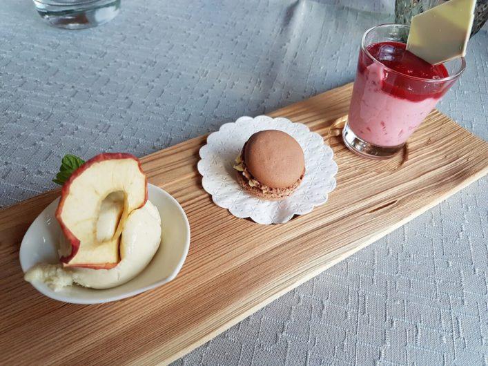 Dessert zum Dinner im Hotel Gnollhof