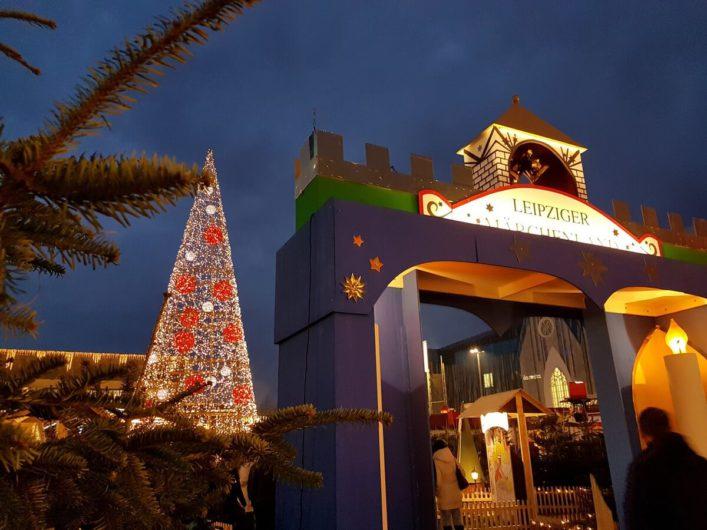 Eingang zum Märchenland auf dem Leipziger Weihnachtsmarkt
