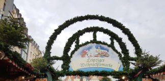 Eingang zum Leipziger Weihnachtsmarkt