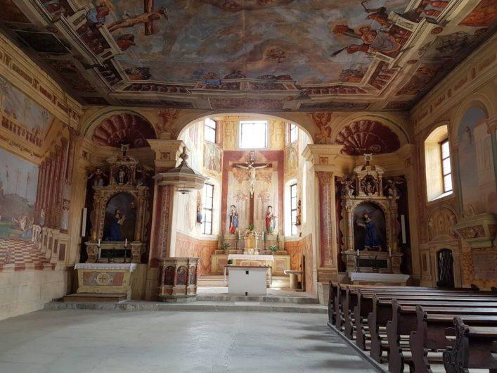 in der Kirche von Kloster Säben