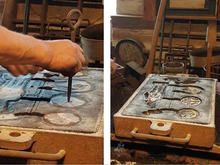 Formen für den Aluminiumguss im Eisenhüttenmuseum Peitz