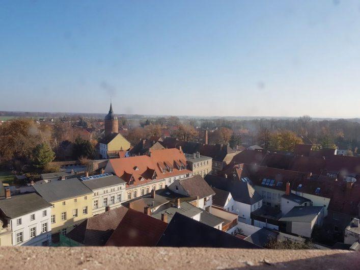 Blick auf Luckau vom Hausmannsturm