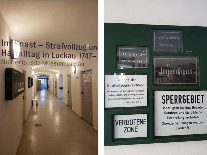 in der ehemaligen Justizvollzugsanstalt in Luckau