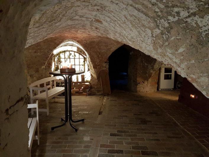 Kellergewölbe unter dem Modegeschäft Byanci in Luckau