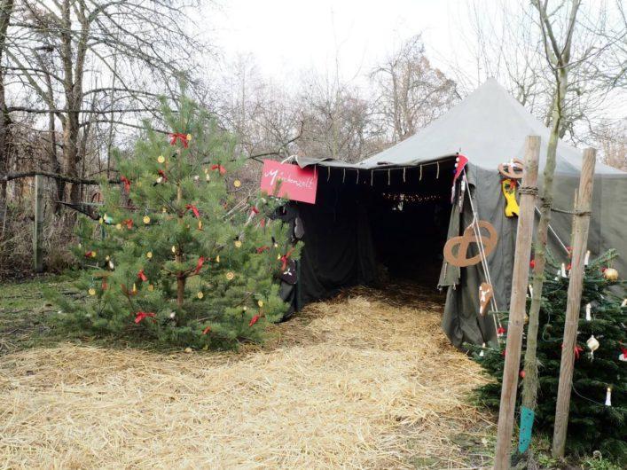 Märchenzelt bei der Spreewaldweihnacht