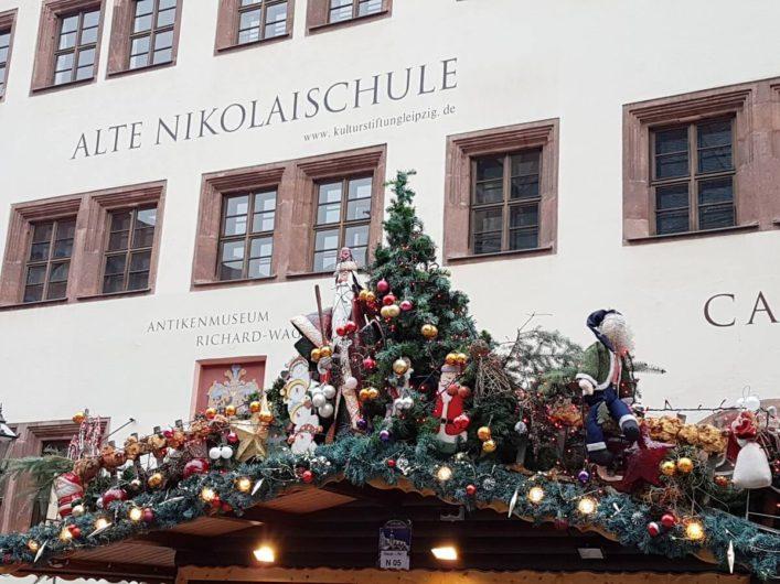 Bude auf dem Weihnachtsmarkt in Leipzig