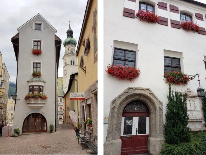 Altstadt und Rathaus von Hall in Tirol