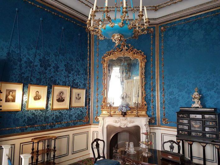 blauer Salon im Schloss Branitz in Cottbus