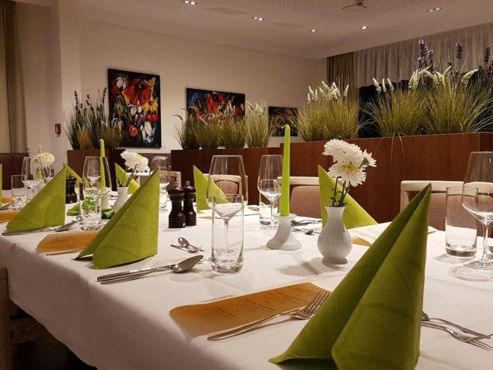 gedeckter Tisch im Kulinarium Branitz