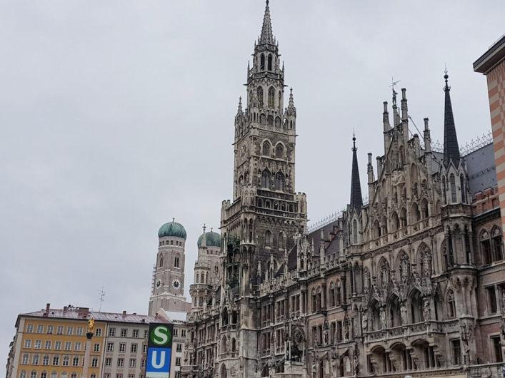 Blick auf das Münchner Rathaus