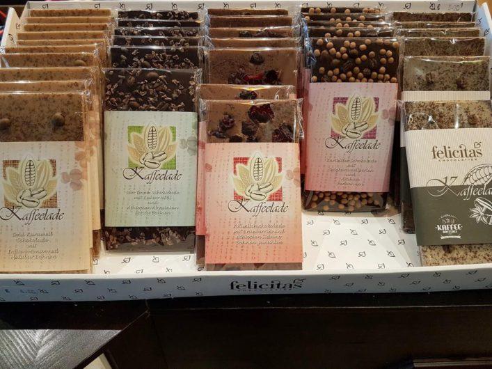 Schokolade mit Kaffee in der Kaffeerösterei Cottbus