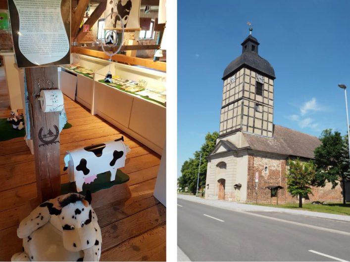 Muuuhseum und Dorfkirche in Wust im Elb-Havel-Winkel