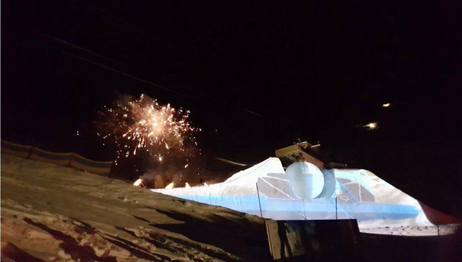 Feuerwerk über der Möseralm zum Abschluss beim Nightflow
