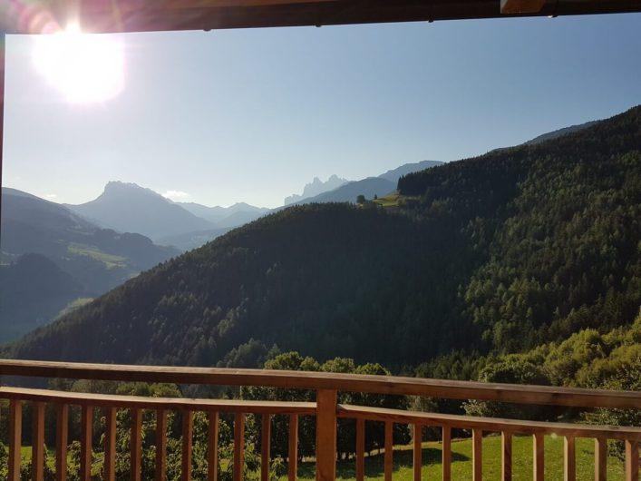 Ausblick vom Balkon des Doppelzimmers Alpin im Gnollhof
