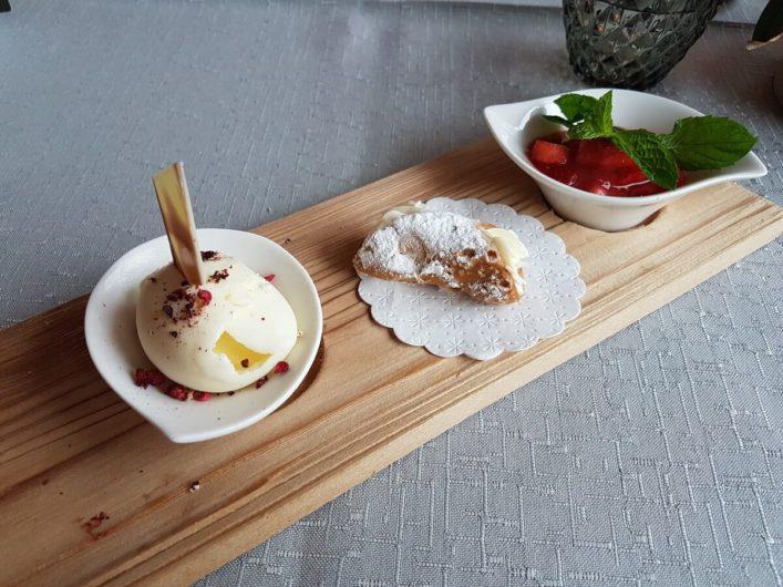 Dessert beim Dinner im Gnollhof