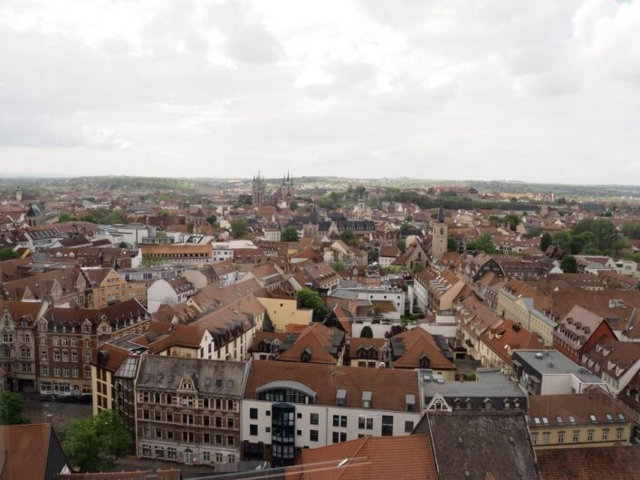 Blick über die Altstadt von Erfurt