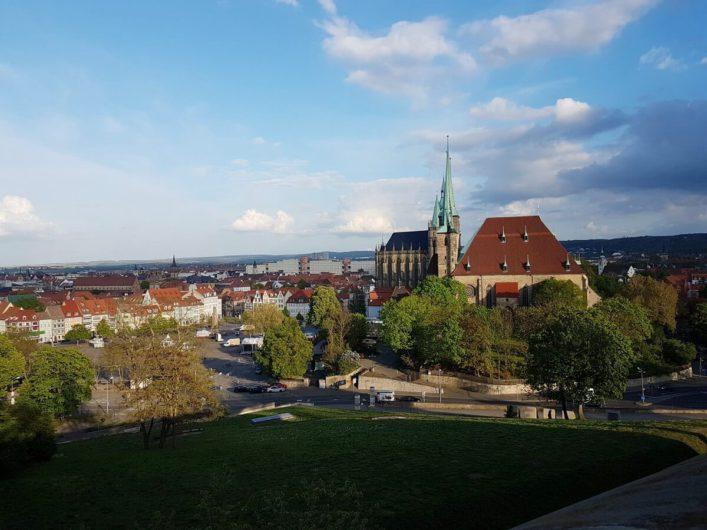 Blick von der Zitadelle Richtung Dom und St. Severi