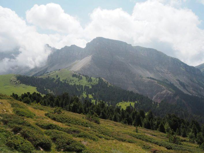 Blick auf Dolomitengipfel