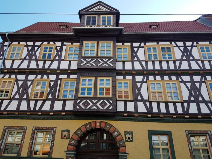 Fachwerkfassade in Erfurt