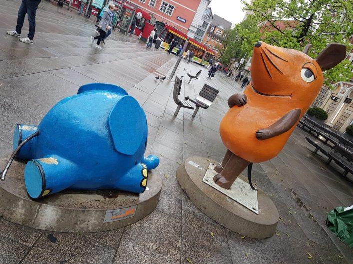 die Maus aus dem KiKA in Erfurt auf dem Anger