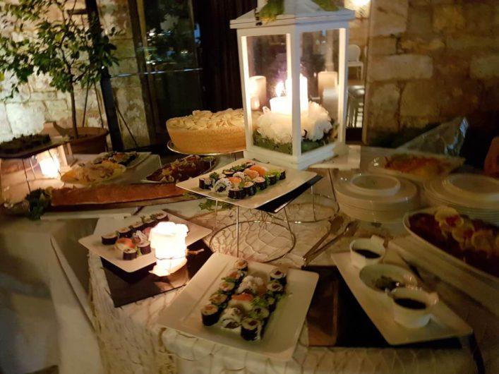 Vorspeisenbuffet an Ferragosto