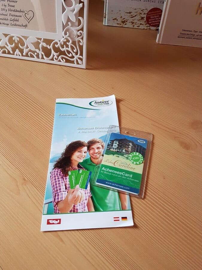 Achensee Erlebniscard und Infoflyer
