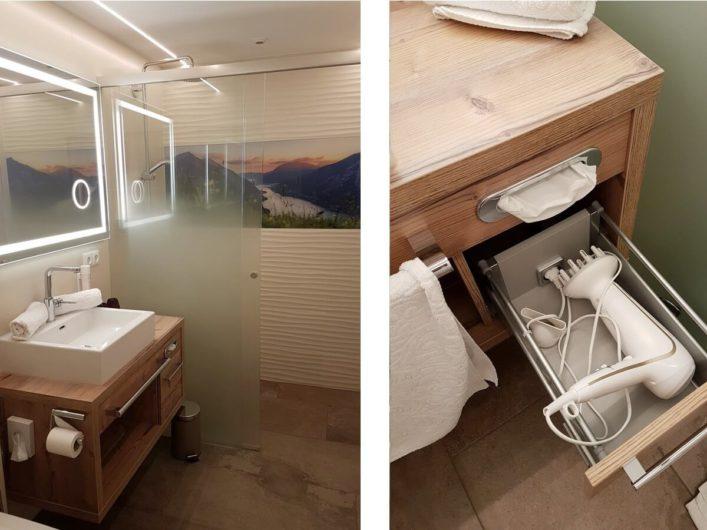Badezimmer im Hotel Liebes Caroline
