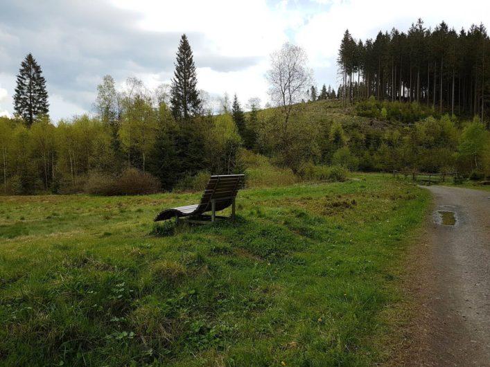 Sinusliege im Schwarzbachtal