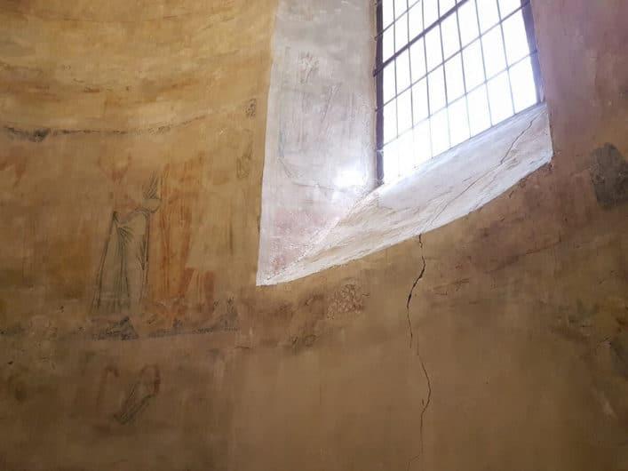 Malereien in der Sakristei der Kirche in Wormbach