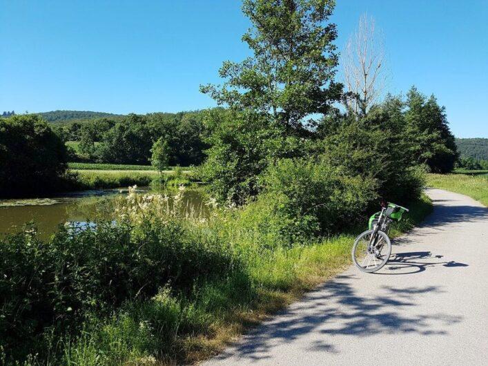 Fahrrad auf dem Altmühltalradweg