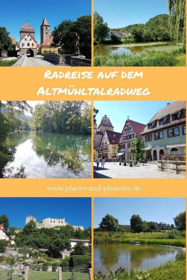 6-tägige Radreise auf dem Altmühltalradweg von Rothenburg ob der Tauber nach Regensburg. Historische Städte, idyllische Landschaft und gemütlich zu fahren. Erfahre mehr über die Tour. #Radtour #Reisetipp #Bayern #Altmühltal